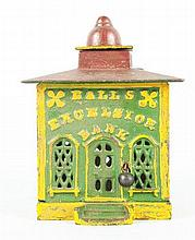 Cast Iron Hall's Excelsior Mechanical Bank.