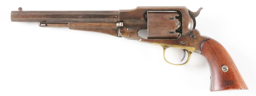 (A) FINE MILITARY INSPECTED REMINGTON NEW MODEL ARMY .44 PERCUSSION REVOLVER.