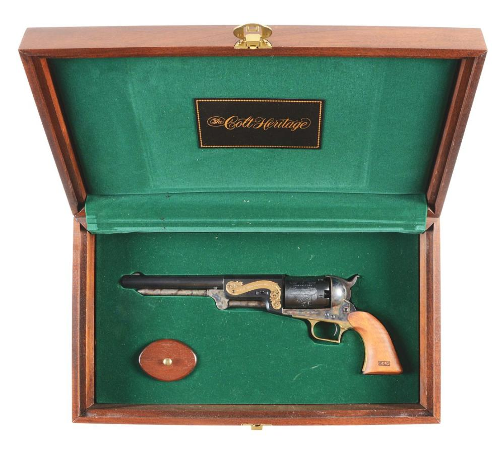 (A) DELUXE COLT 1847 DRAGOON HERITAGE CASED SET WITH BOOK.