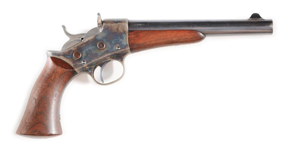 (A) HIGH CONDITION MODEL 1871 REMINGTON ARMY ROLLING BLOCK PISTOL.