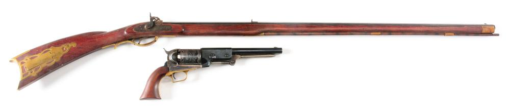 (A) LOT OF 2: KENTUCKY RIFLE AND COLT WALKER REPRODUCTION.