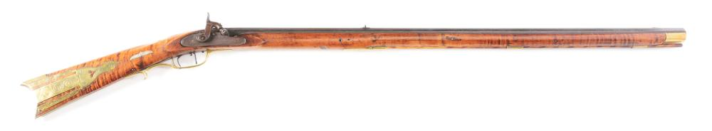 (A) PERCUSSION KENTUCKY RIFLE MARKED S. SMITH.