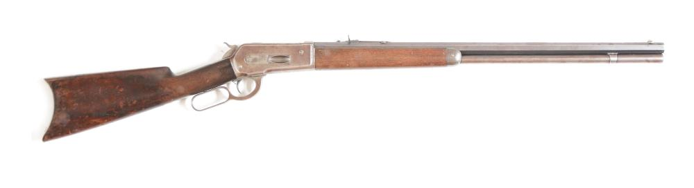 (A) WINCHESTER 1886 LEVER ACTION RIFLE (1889).
