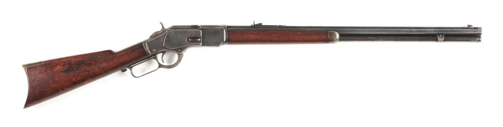 (A) WINCHESTER MODEL 1873 .44 CALIBER LEVER ACTION RIFLE (1889).