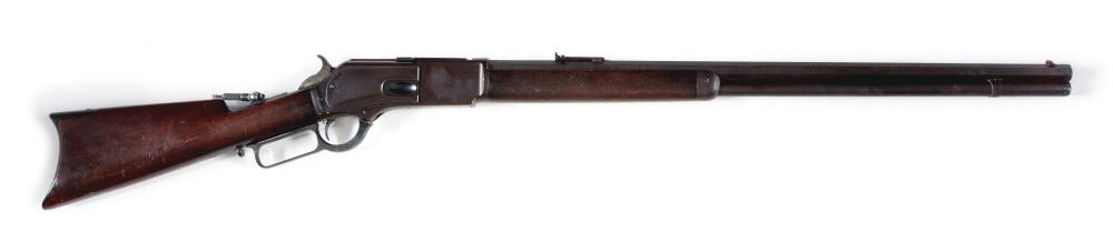(A) WINCHESTER 1876 LEVER ACTION RIFLE.