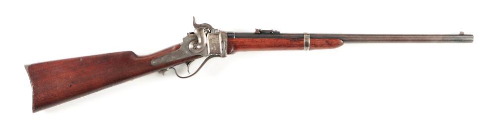 (A) ID'ED US SHARPS MODEL 1863 BREECHLOADING CONVERSION CARBINE.