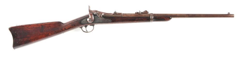 (A) CUSTER 7TH CAVALRY RANGE US SPRINGFIELD MODEL 1873 TRAPDOOR CARBINE.