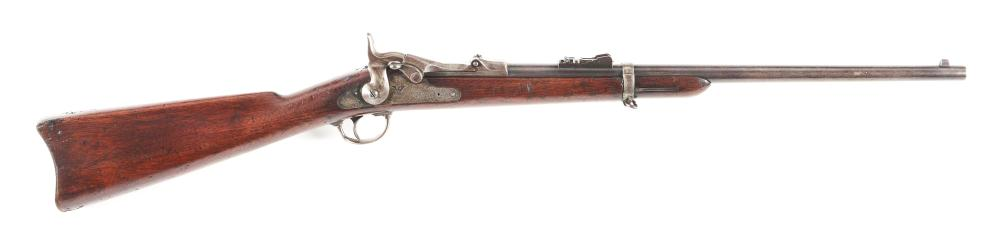 (A) FINE AND SCARCE US MODEL 1877 SPRINGFIELD CARBINE - DATED 1877.
