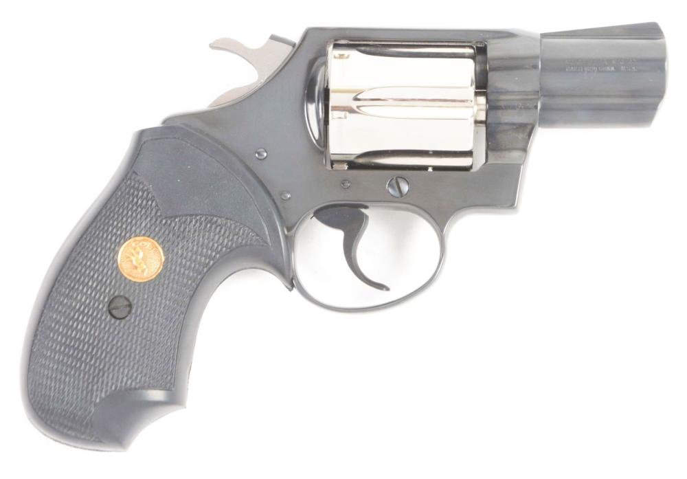 (C) BEAUTIFUL AND RARE COLT DETECTIVE SPECIAL REVOLVER IN TWO TONE FINISH WITH ORIGINAL BOX AND PAPERWORK.