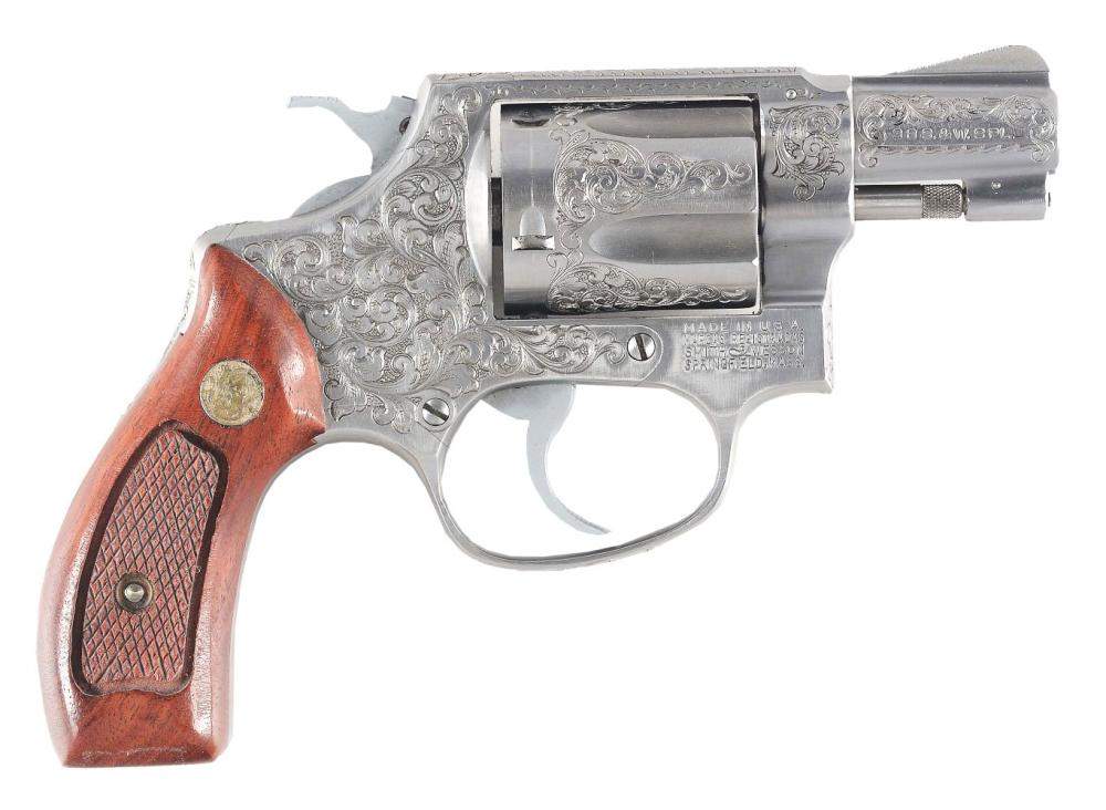(M) ALVIN WHITE ENGRAVED SMITH & WESSON MODEL 60 DOUBLE ACTION REVOLVER WITH BOX.