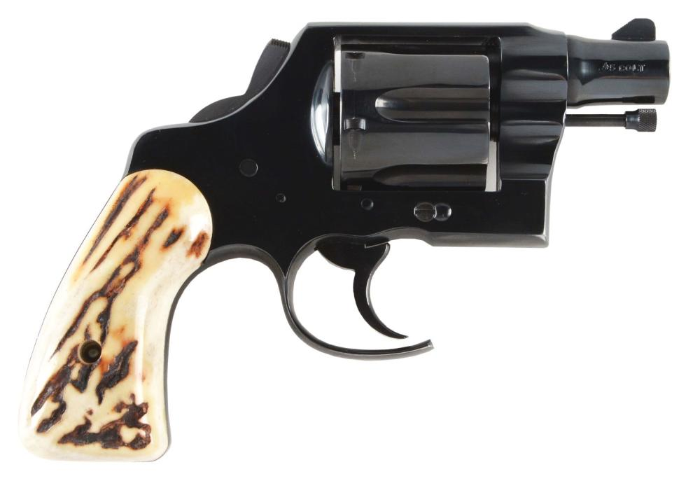 (C) FITZ STYLE COLT NEW SERVICE DOUBLE ACTION REVOLVER (1937)
