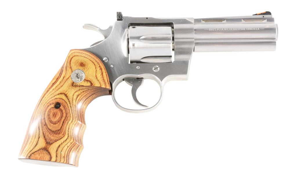 (M) UNFIRED COLT PYTHON ELITE DOUBLE ACTION .357 REVOLVER WITH CASE.