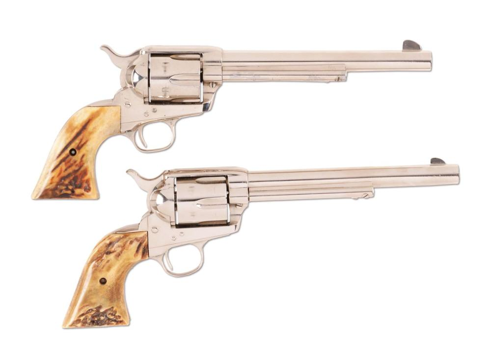 (C) LOT OF 2: COLT SINGLE ACTION ARMY REVOLVERS (1913 & 1959).