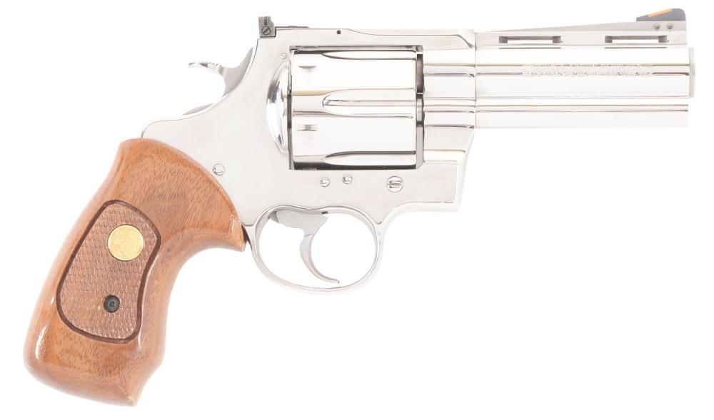 """(M) BEAUTIFUL CASED COLT ANACONDA WITH 4"""" BARREL AND CASE."""