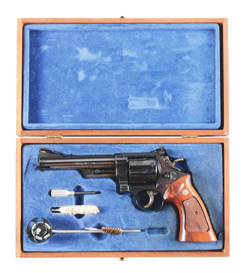 (M) CASED SMITH & WESSON MODEL 57 DOUBLE ACTION .41 MAGNUM REVOLVER.
