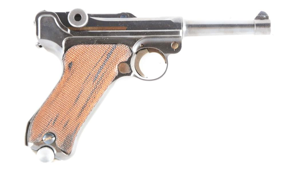 (C) MAUSER BANNER 1936 DATED LUGER SEMI-AUTOMATIC PISTOL.