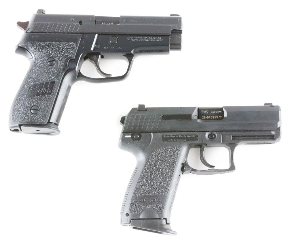 (M) LOT OF TWO: SIG SAUER AND HECKLER & KOCH SEMI-AUTOMATIC PISTOLS.