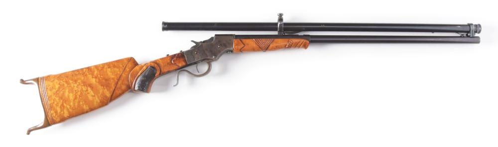 (C) STEVENS FAVORITE CUSTOM SINGLE SHOT RIFLE.