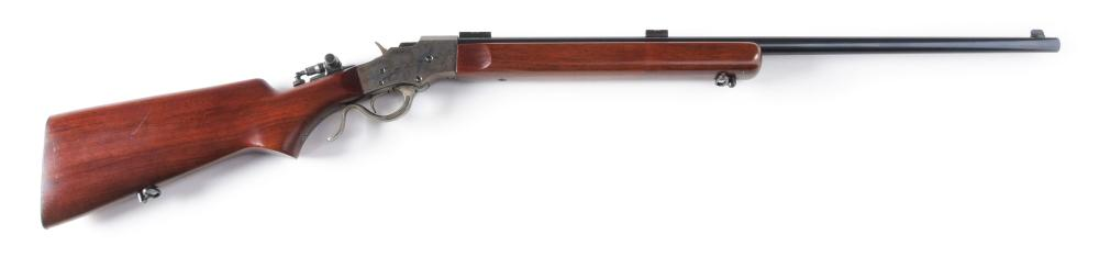 (C) STEVENS IDEAL SEMI-MILITARY STYLE SINGLE SHOT RIFLE.