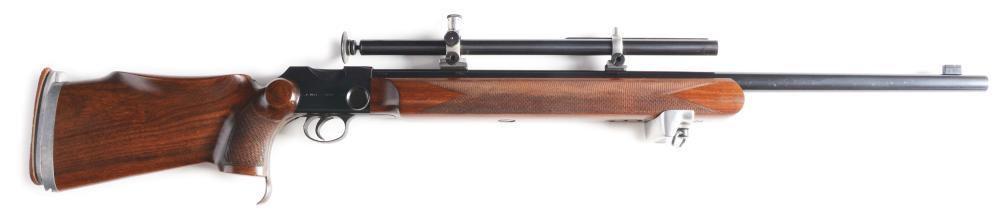 (C) BSA MARTINI .22 SINGLE SHOT INTERNATIONAL TARGET RIFLE.