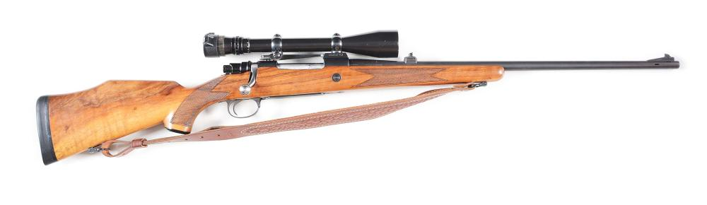 (M) SAKO BOLT ACTION SPORTING RIFLE WITH SCOPE.