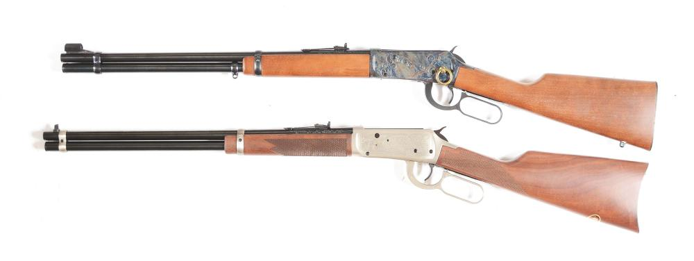 (C) LOT OF 2: WINCHESTER 94 AND 94AE LEVER ACTION RIFLES.