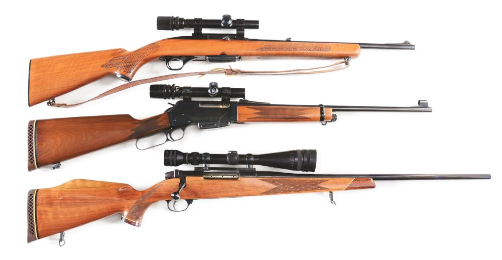 (M) LOT OF THREE: SPORTSMANS LOT OF FINE HUNTING RIFLES.