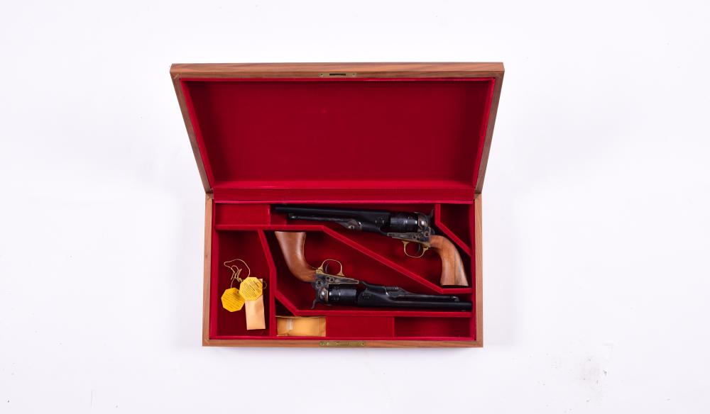 (A) LOT OF TWO: CONSECUTIVE PAIR COLT SECOND GENERATION PERCUSSION REVOLVERS.