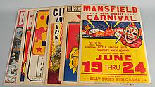 Lot of 7: Cardboard Circus Posters.