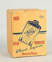 Full Box of Meritt Medicated Powder Tins.