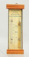 Kickapoo Oil Advertising Thermometer.
