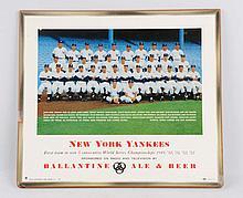 Ballantine Beer New York Yankees Sign.
