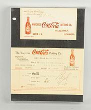 Lot of 2: Waycross, GA Coca-Cola Items.