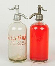 Lot of 2: Coca-Cola Seltzer Bottles.