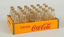 Miniature Coca-Cola Carrier with Bottles.