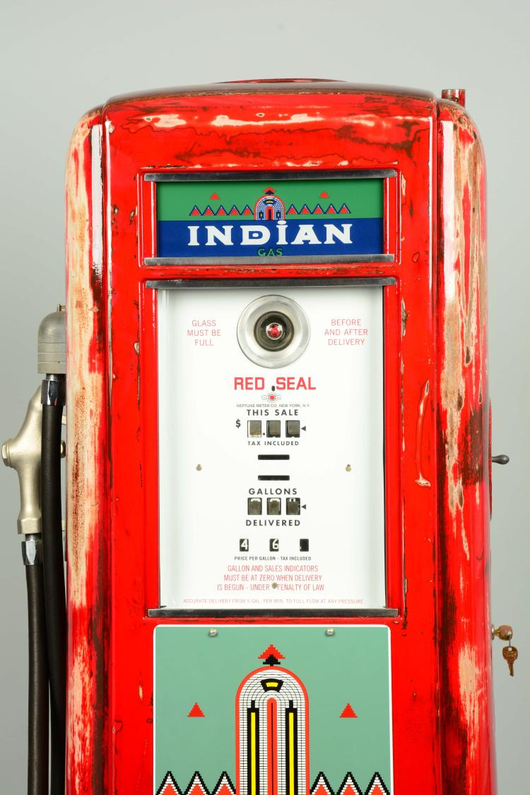 "Denver Car Auction >> Neptune Model #855 ""Red Seal"" Computing Gas Pump - Restored."