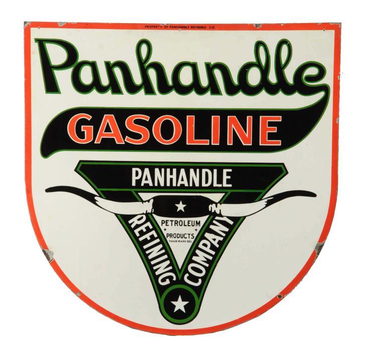 rare large gasoline porcelain sign - 750×722