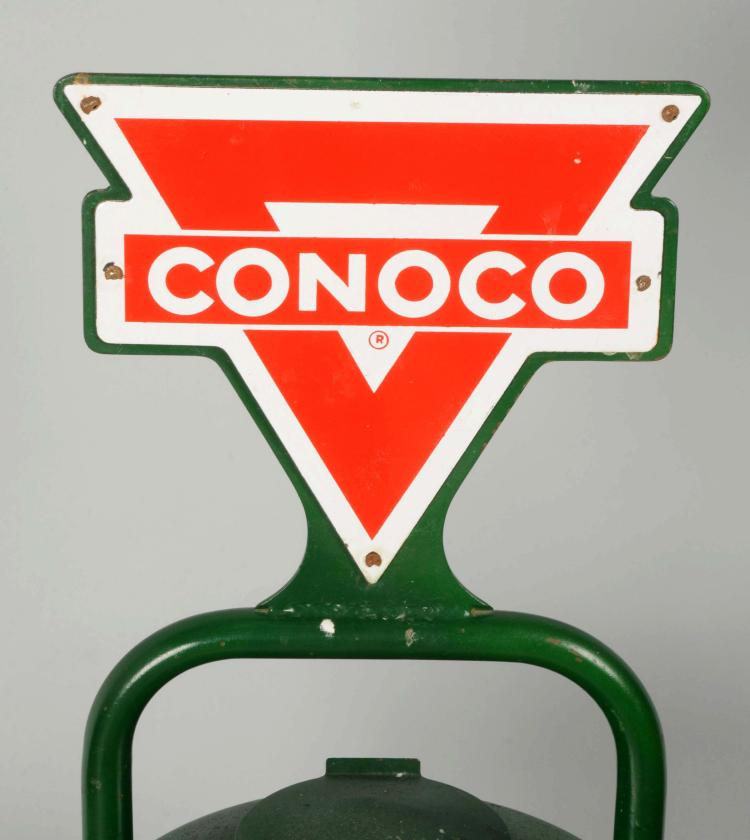 Conoco Motor Oil Service Station Can Display