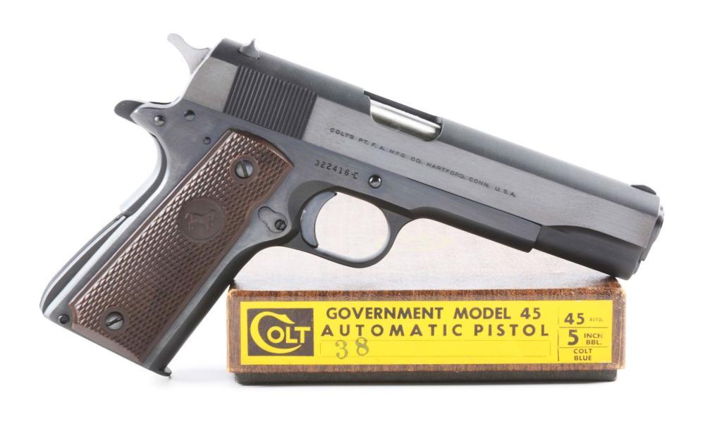 C) Box Pre-Series 70 Colt 1911A1 Government Model Semi-Auto