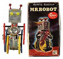 Tin Litho & Plastic Wind-up Mr. Robot.