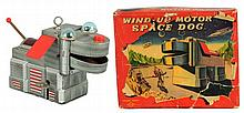 Tin Litho & Painted Wind-up Space Dog.