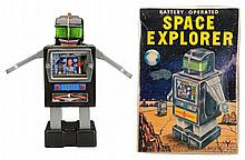 Tin Litho & Painted Space Explorer.