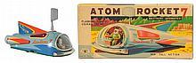 Tin Litho Atom Rocket 7.