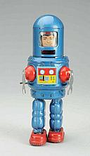 Tin Litho & Painted Tin Wind-up Robby Robot.