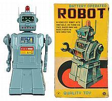 Tin Litho & Painted Robot.