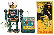 Tin Litho & Painted Tin Space Commando.