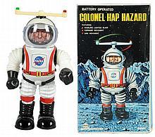 Tin Litho & Painted Colonel Hap Hazard Robot.