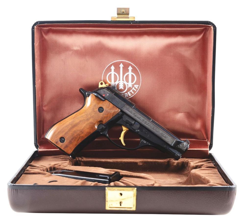 M) Cased Beretta Model 84 Deluxe Semi-Automatic Pistol