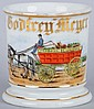 Horse-Drawn Produce Cart Shaving Mug.