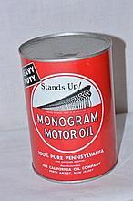 Monogram Motor Oil Can.